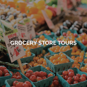 grocery store tours- image of vegetables at a grocery store