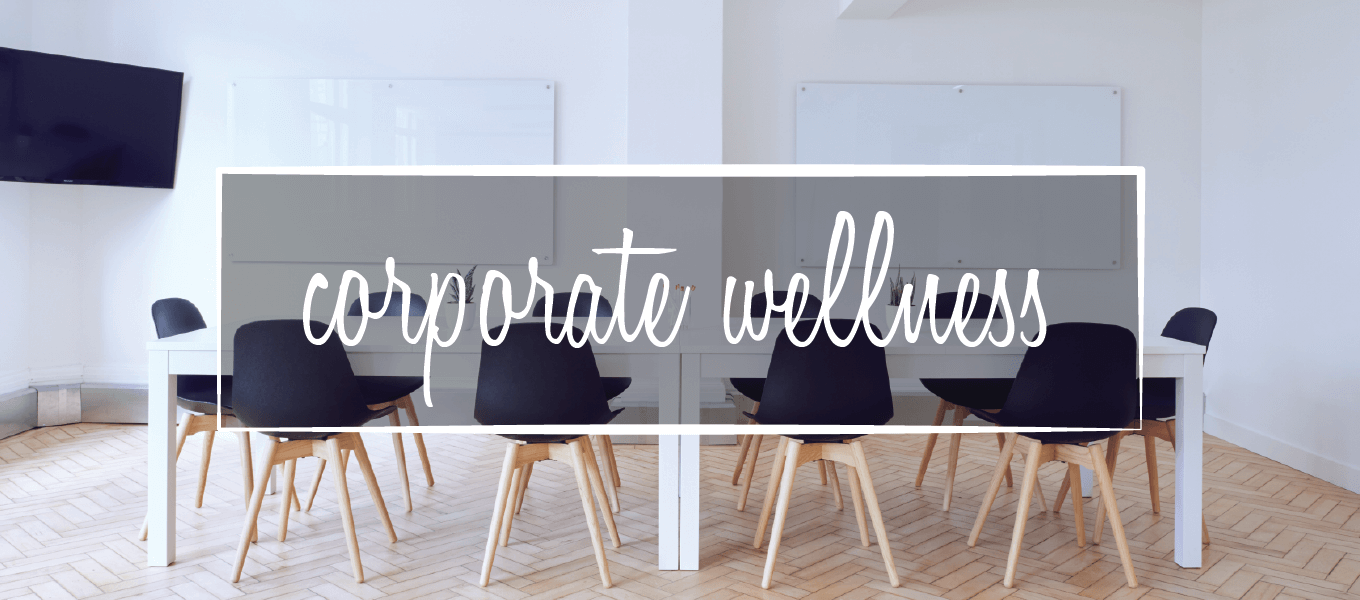 Image says Corporate wellness