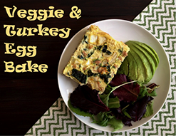 Veggie & Turkey Egg Bake